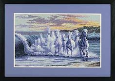 The wave cross stitch pattern - this site has great cross stitch patterns and really good prices.