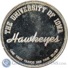 University of Iowa Hawkeyes Basketball | 1 oz Silver Art Round  Any Hawkeyes out there?!  Let's see how many UI fans we can get to PIN this!  Rally your fellow graduates and friends!  http://www.gainesvillecoins.com/submenu/536/sports-memorabilia.aspx