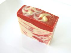 Handmade Soap.  Sweet Berry Blend of Blackberry, Goji Berry, Loganberry, Gooseberry, Real Fruit of Pomegranate, and Shea Butter, Cocoa Butter!  ~ ♡ We use Organic and Sustainable Oils to make this soap bar. ♡ ~