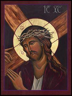 Icon – Christ Accepts the Cross Lyne Beard