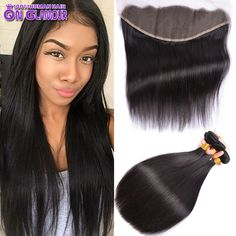 Lace Frontal Closure With Bundles 4 Bundles Peruvian Straight Hair Weaves With Frontal Closure Hair Bundles With Lace Closures -  http://mixre.com/lace-frontal-closure-with-bundles-4-bundles-peruvian-straight-hair-weaves-with-frontal-closure-hair-bundles-with-lace-closures/  #HairWeftClosure(Bang)