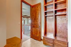 Mud room with custom shelving and seating