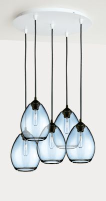 Room & Board Sky Pendant Sets, Group of 3 or 5 Pendant Chandelier, Modern Chandelier, Pendant Set, Modern Lighting, Pendant Lighting, Crystal Chandeliers, Blue And Gold Bedroom, Blue Kitchen Cabinets, Home Trends