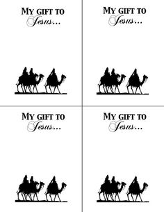 Gift for Jesus printable