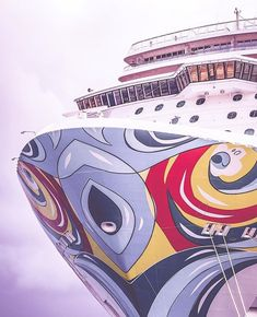 Floating Works of Cruise Ship Art are Big Hits on Social Media Bahamas Cruise, Cruise Vacation, Norwegian Breakaway, Most Famous Artists, Norwegian Cruise Line, Ship Art, Artwork Design, Social Media, Instagram