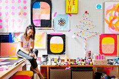 alexfultondesign - possible the best work space ever!  Rachel Castles studio.