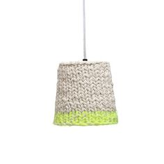 Lampshade Knitted Neon S, from Let There Be Lights £59, featured on Fab.