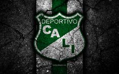 Download wallpapers Deportivo Cali FC, 4k, logo, Colombian football club, black stone, Categoria Primera A, Deportivo Cali, Colombia, football, Liga Aguila, asphalt texture, FC Deportivo Cali Black Stone, Next Wallpaper, Cali Colombia, Sports Wallpapers, Latin America, Drink Sleeves, Avengers, Football, Sports Drawings
