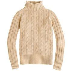 J.Crew Cambridge cable chunky turtleneck sweater