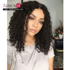 Ericdress Center Part Kinky Curly Medium Synthetic Hair Bob For Round Face Lace Front Cap African American Wigs 14 Inches, Front Hair Styles, Curly Hair Styles, Natural Hair Styles, Hair Front, Curly Lace Front Wigs, Shoulder Length Curly Hair, Remy Hair, Synthetic Hair, Bob Hairstyles