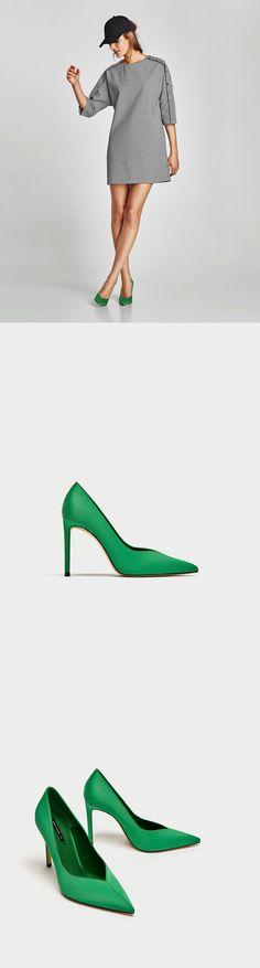 f702c72769e Green V Vamp High Heel Court Shoes from zara - clojure.lang.LazySeq cfc69707
