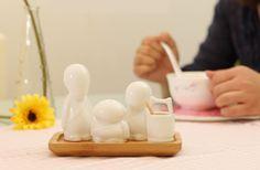 3 Ceramics-man Pepper Salt Shaker