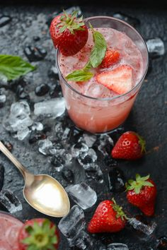 Strawberry Balsamic Basil Soda!