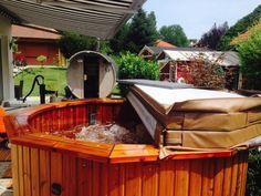 Badefass mit Whirpoolfunktion von www.sisu-sauna.at Outdoor Sauna, Indoor Outdoor, Outdoor Decor, Sauna Kits, Diy Sauna, Tub, Outdoor Furniture, Home Decor, Bathing