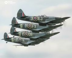 A flight of Spitfires