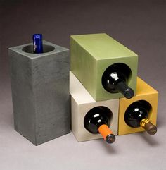 Check out these decorative concrete projects that exemplify a love for wine. Some incorporate wine bottles, some use wine as a coloring agent and others store wine. Cement Art, Concrete Cement, Concrete Furniture, Concrete Crafts, Concrete Projects, Concrete Design, Concrete Planters, Concrete Countertops, Concrete Driveways