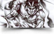 aztec warrior tat Aztec Soldier Tattoo