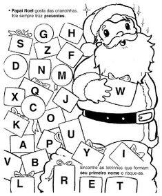 ATIVIDADES ESCOLARES ONLINE: Atividades e Desenhos para colorir com o tema natal