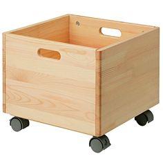 パイン材収納BOX・キャスター付き 幅35×奥行き35×高31cm   無印良品ネットストア