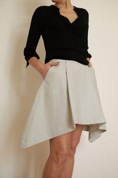 Linen Skirt Pleated Skirt Linen Womens Clothing by atelierPop