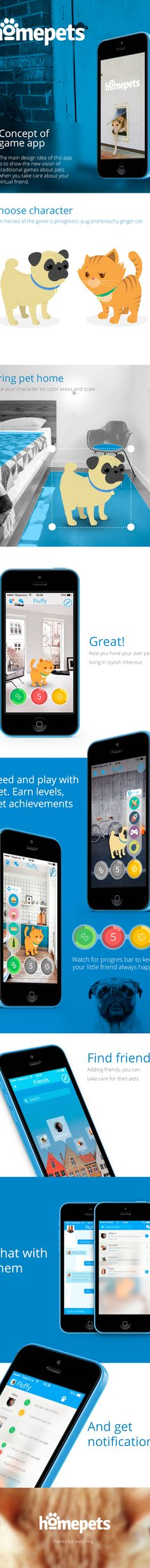 Homepets mobile game app on Behance