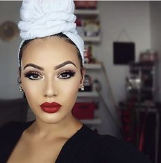 beauty makeup looks Flawless Makeup, Beauty Makeup, Hair Makeup, Hair Beauty, Viva Glam Kay, Curly Hair Styles, Natural Hair Styles, Headwraps For Natural Hair, Mode Turban