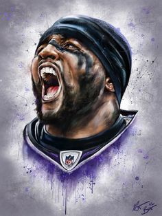 by Robert Bruno, via Behance Ray You Are The Man Bro! Sports Art, Nfl Sports, Sports Posters, Football Posters, Nfl Football Players, Football Art, Football Season, Middle Linebacker, Avengers Coloring