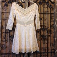 """Selling this """"Free People Allover Lace Off White Short Dress"""" in my Poshmark closet! My username is: decodizzy. #shopmycloset #poshmark #fashion #shopping #style #forsale #Free People #Dresses & Skirts"""
