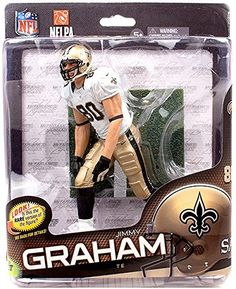 McFarlane Toys NFL Sports Picks Series 34 Action Figure Jimmy Graham New Orleans Saints White Jersey Collector Level ** See this great product.Note:It is affiliate link to Amazon.