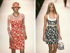 Here are two of the Vogue 2152 dresses on the runway. The slip dress in view B was worn with a long-sleeved mesh top: Models: Kylie Bax and Christina Kruse. Images via firstVIEW.