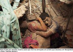 Bangladesh: Foto de casal morto abraçado em prédio desabado ganha destaque mundial ~ Cruz das Almas News