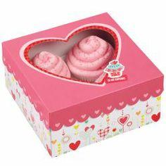 """Cajas, pack 3 cajas presentación 4 cupcakes """"Valentine Smile"""" Wilton"""