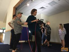 Another behind the scenes shot of our cast and crew filming the live portion of our comedy sketch. #bananaflavouredmilk #aehiqld #bfm #comedysketch