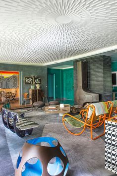Victor Hugo - Séjour - eclectic - Living Room - Other Metro - Fabrice Ausset - Architecte DPLG Luxury Home Decor, Luxury Interior Design, Cheap Home Decor, Interior Architecture, Interior Decorating, Eclectic Living Room, Living Room Decor, Dining Room, Plafond Design