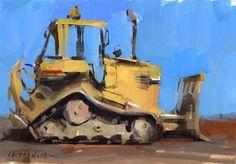 """Dozer - Quick Study"" - Original Fine Art for Sale - © David Lloyd"