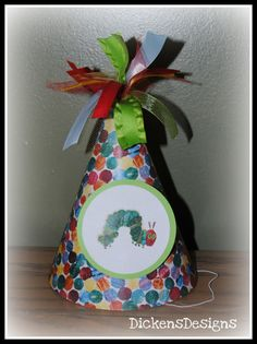 Very Hungry Caterpillar Birthday Hat by DickensDesigns on Etsy
