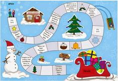 Christmas Activities For Kids Boardgame 001 - Printable Coloring Pages Christmas Board Games, Xmas Games, Christmas Puzzle, Christmas Activities For Kids, Kids Christmas, Merry Christmas, Christmas Events, Christmas Quotes, Board Game Template