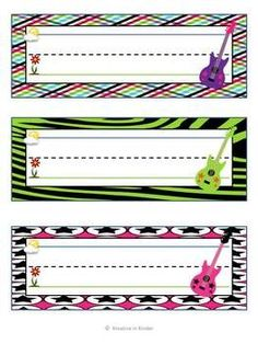 Rock Star Classroom Theme Decor!  This 165-page set includes:  welcome banner; blank banners you can write on; centers banner; word wall sign; numbers 1-20; letters a-z; blank cubby tags; and more!  $