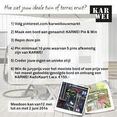 Repin ook deze pin en maak kans op een KARWEI KadoKaart t.w.v. €150,-