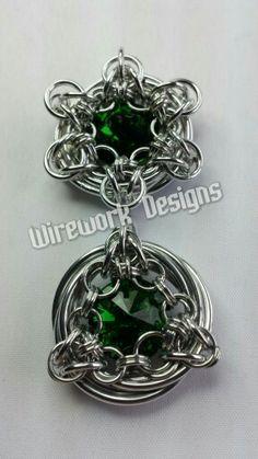 BA pendants with Swarovski crystals