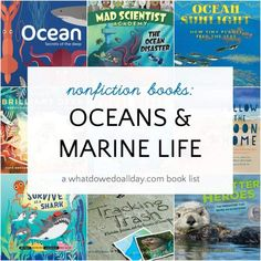 The best ocean books for kids. A book list of nonfiction books about oceans, marine life, ocean animals and ecosystems. Pre-school Books, Cool Books, General Knowledge Book, National Geographic Kids, Award Winning Books, Best Books To Read, Early Literacy, Science Books, Book Themes