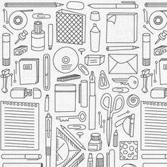 "Pattern ""office supplies"" @ envelop"