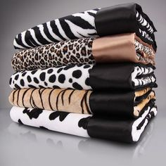 Get wild with animal print baby blankets!