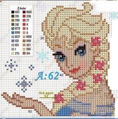 Frozen Cross Stitch, Cross Stitch Baby, Cross Stitch Flowers, Cross Stitch Embroidery, Loom Patterns, Beading Patterns, Cross Stitch Designs, Cross Stitch Patterns, Frozen Crochet