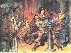 Александр разрубает Гордиев узел.