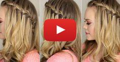 Comment faire une jolie tresse cascade. http://rienquedugratuit.ca/videos/comment-faire-une-jolie-tresse-cascade/