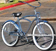 "Micargi Cougar GTS, men's 26"" all chrome beach cruiser bike bicycle. This is a very pretty bike."