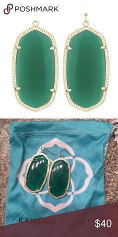 """Kendra Scott """"Danielle"""" Green Earrings Kendra Scott """"Danielle"""" Green Earrings Kendra Scott Jewelry Earrings"""