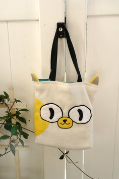 Adventure Time Cake the Cat hand bag by sappymoosetree on Etsy, $35,00
