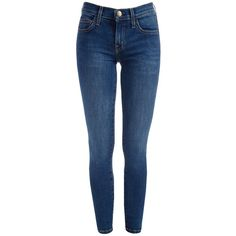 Jean The Stiletto Coton Ellis (4.766.420 IDR) ❤ liked on Polyvore featuring jeans, pants, bottoms, slim cut jeans, slim fit jeans, slim jeans, slim blue jeans and blue jeans